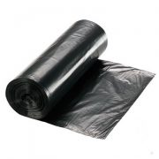 black garbage bag roll