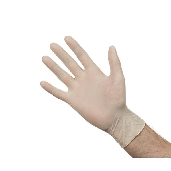 low powdered latex gloves